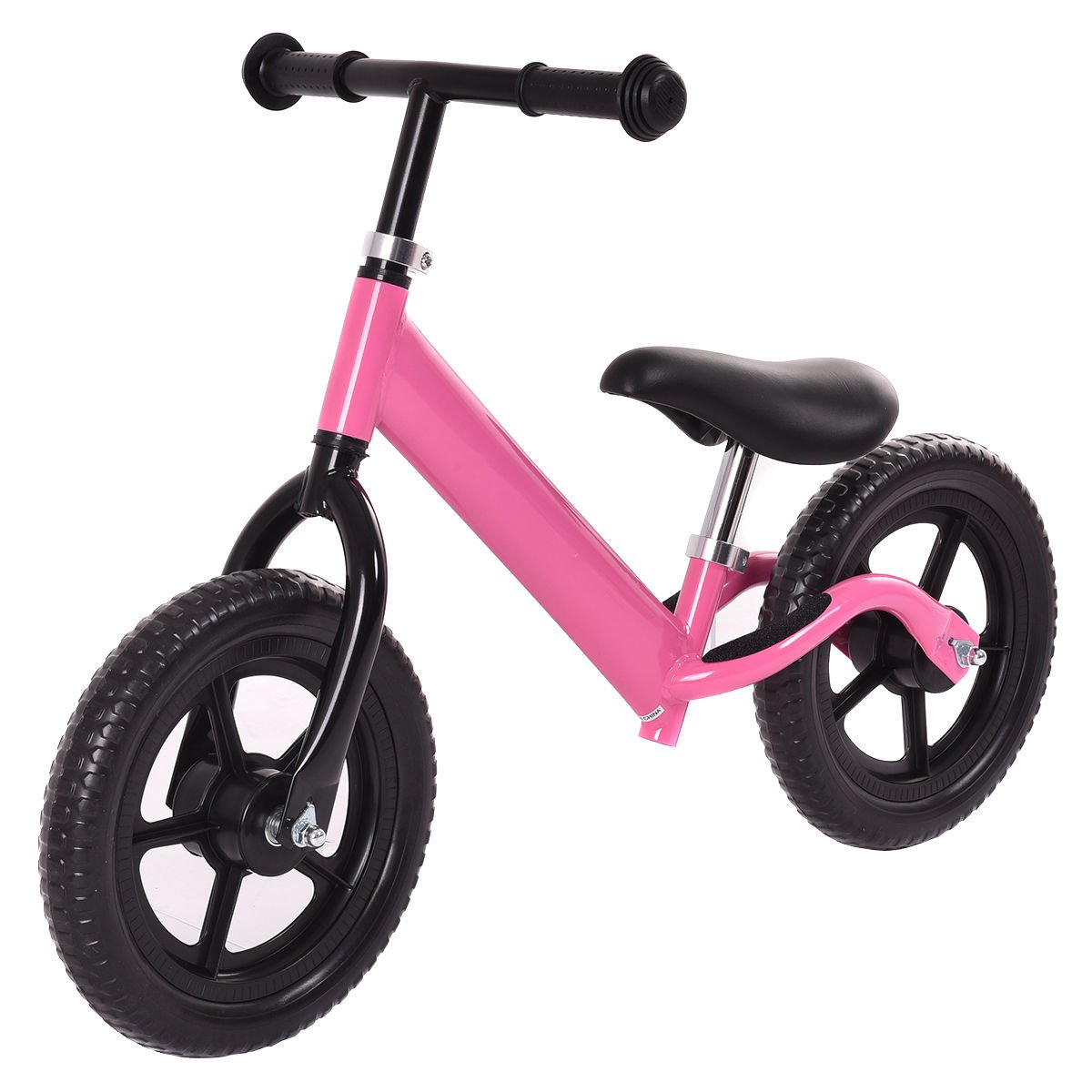 Costzon 12'' Classic No-Pedal Balance Bike Walking Bicycle for Kids Age 2-7 w/ Adjustable Seat (Pink)
