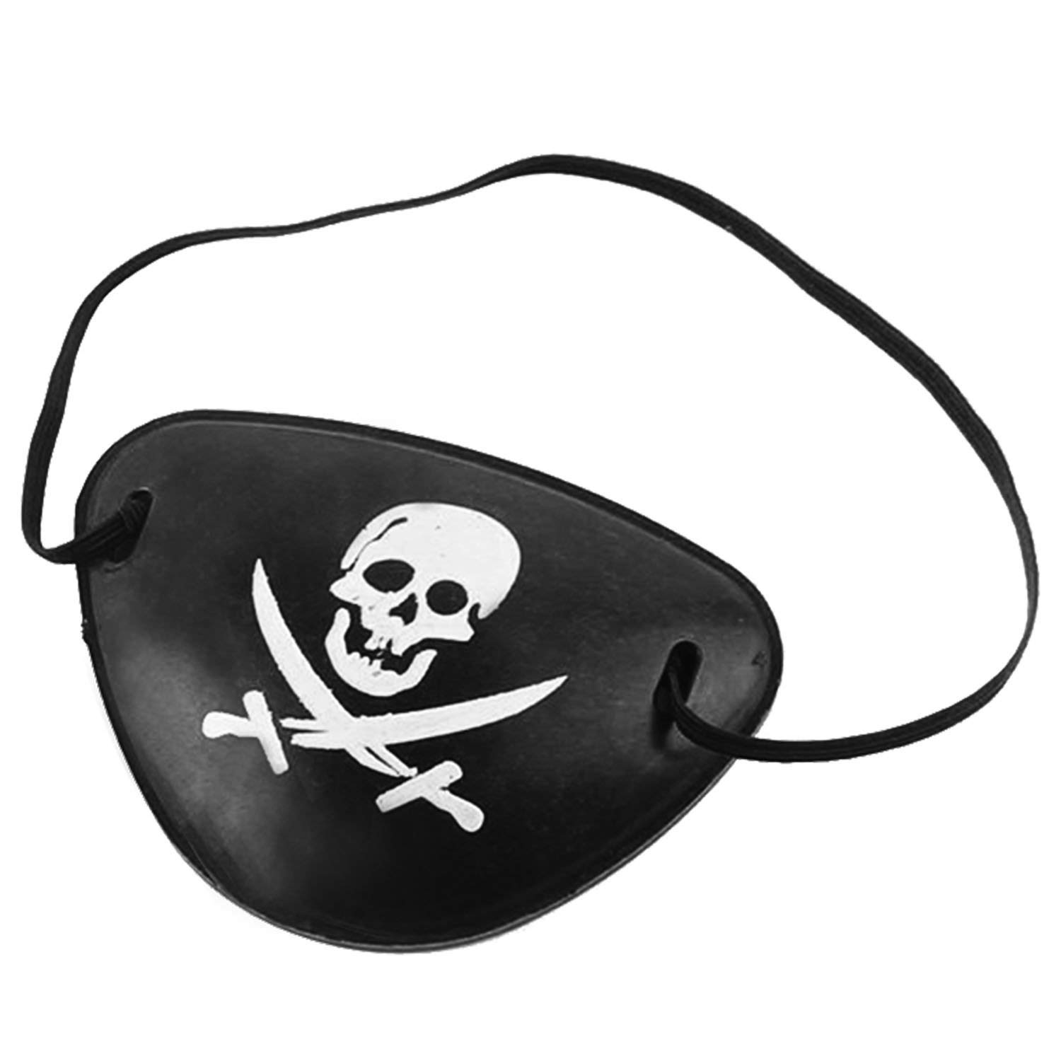 12 Pirate Rubber Eye Patches Pirate Halloween Party Favor