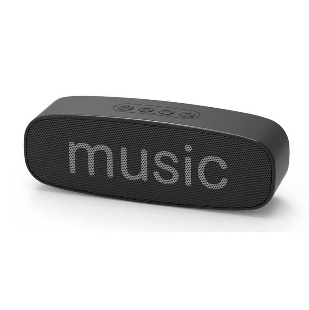 Portable Bluetooth Speaker,BOOMER VIVI Mini Wireless Speaker with Bluetooth V4.2,15-Hour Playtime,Built-in-Mic,Rich Bass,Superior Stereo Sound, HD Audio, Perfect for Outdoor,Indoor,Travel. (Black)