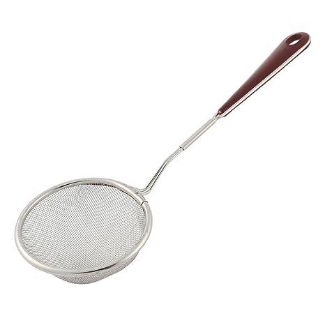 Sourcingmap – Mango de plástico metal hogar cocina alambre de malla fina  Colador de aceite 75 03240d46bb85