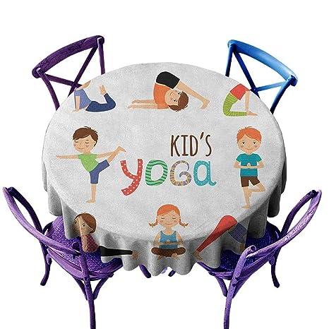 familytaste Yoga, Mantel Redondo D de 127 cm para niños en ...