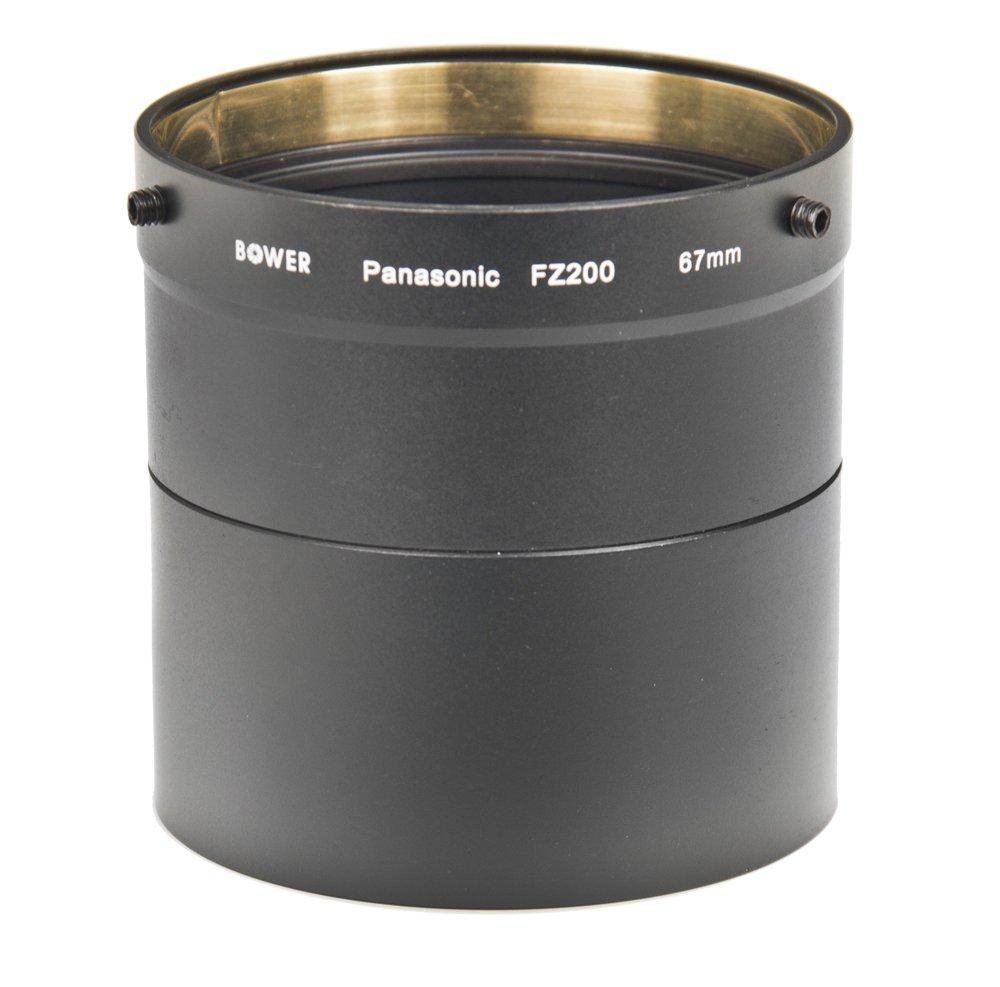 67mm Wide Angle Telephoto Lens Kit For Panasonic Lumix DMC-FZ200, DMC-FZ200K Digital Camera Includes NecessaryTube Adapter + HD .43x Wide Angle Lens + 2.2x Telephoto Lens + Lens Hood + Lens Pen Cleaning Kit + Lens Cap Keeper + MicroFiber Cleaning Cloth