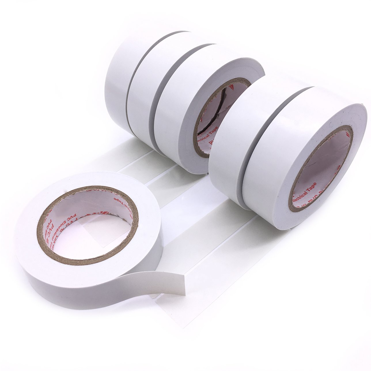 Maveek Electrical Tape 0.75 Inch 15m 6 Pack White Electrical ...