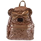 Disney Loungefly Rose Gold Backpack —SOLD OUT HARD TO FIND—- last one!!—— NEW Minnie Mouse Rose Gold Ears, Disney park