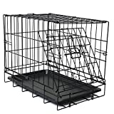 "OxGord 20"" Small Dog Crate, Single-Door Folding Metal w/ Tray   Length:17 inches Width: 11.70 inches height: 14 inches 2016 Newly Designed Model"