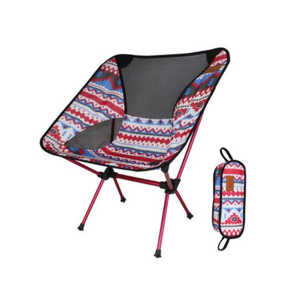 F & H FH Outdoor Klappstuhl Mond Stuhl Ultraleicht Tragbare Aluminium Angeln Stuhl Camping Klapptisch Und Stuhl Freizeit Multifunktionale