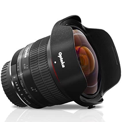 Opteka - Lente de Ojo de pez asférico para cámaras Nikon DX D7500 ...