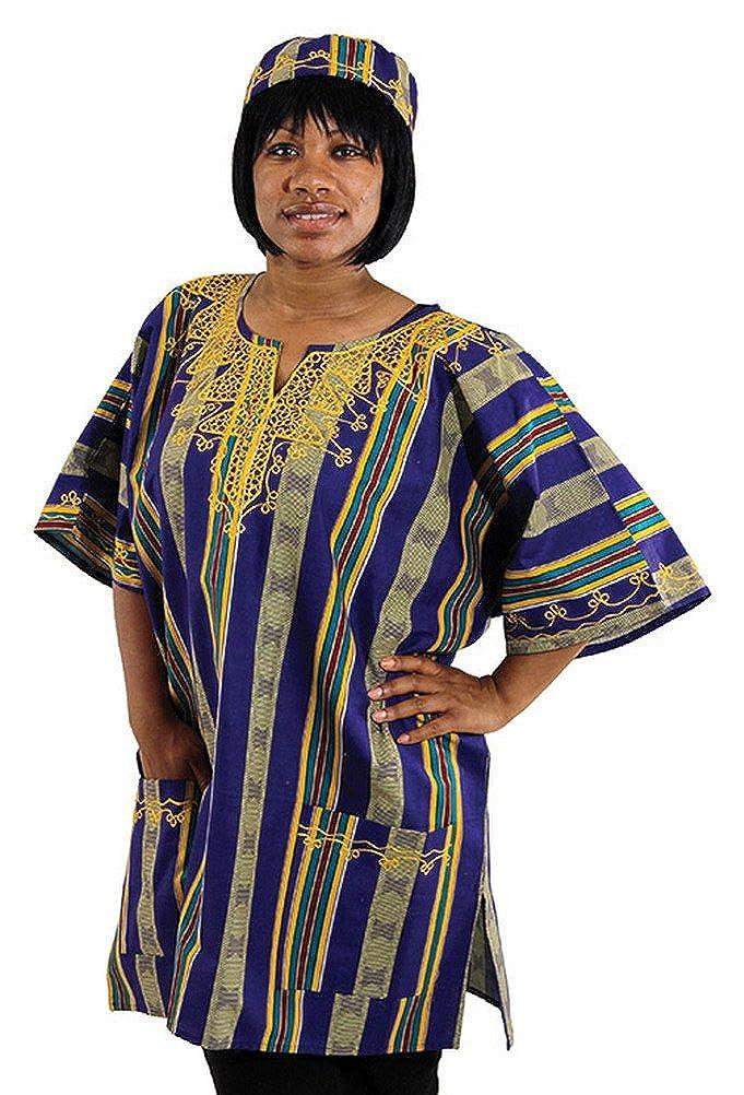 Unisex Kente Dashiki - Available in Several Kente Patterns Kente Pattern 1 African Inspired Fashions