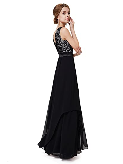 Elegant Sleeveless Lace Evening Party Dress at Amazon Womens Clothing store: