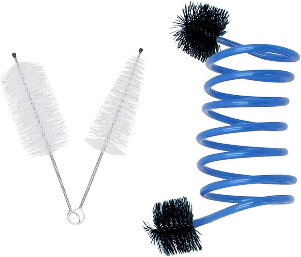 Bestlymood Kit de Cuidado de Limpieza de Mantenimiento de Trompeta 3 Cepillos En 1 Paquete