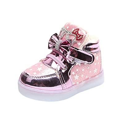 01a7efdbf Newborn Girls Boys Shoes HEHEM Toddler Baby Fashion Sneakers Star Luminous  Child Casual Colorful Light Shoes