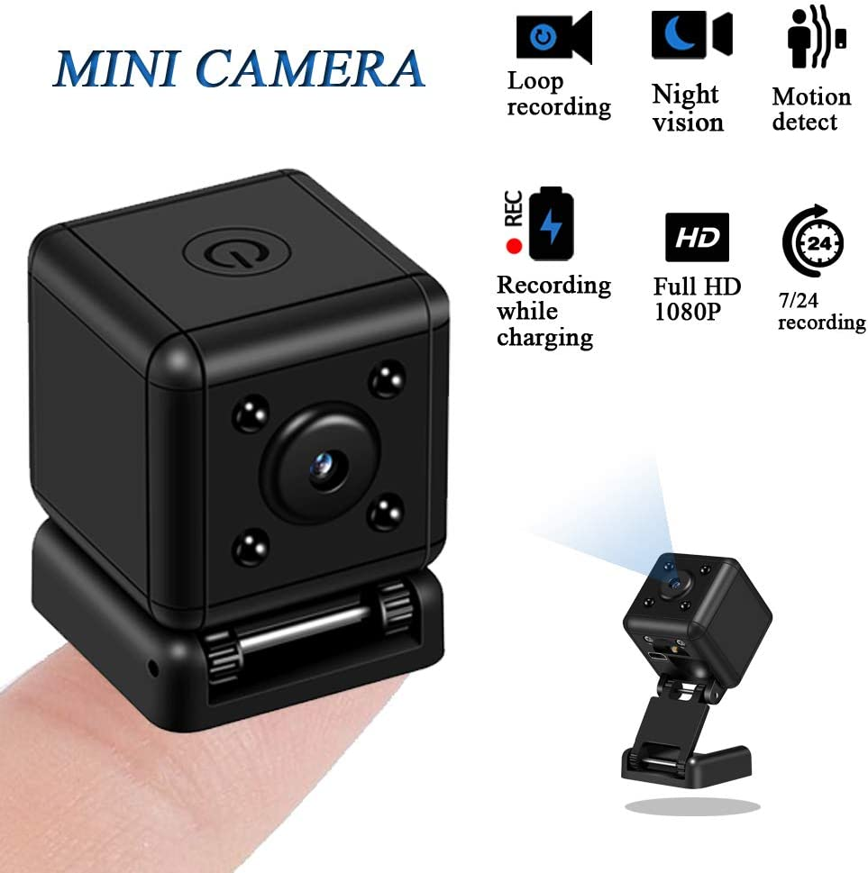Spy Camera Nanny Cam – 1080P Hidden Mini Camera Full HD – Hidden Cameras – Motion Detection Recording – Night Vision Loop Recording – Plug and Play One Touch Button - Ideal for Home, Office, Car