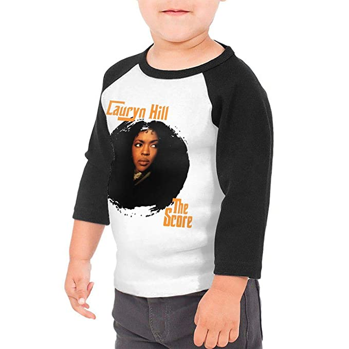 eb81c0ed PaulineD Toddler Lauryn Hill The Score 3/4 Sleeve Raglan Baseball T Shirt  for Girls