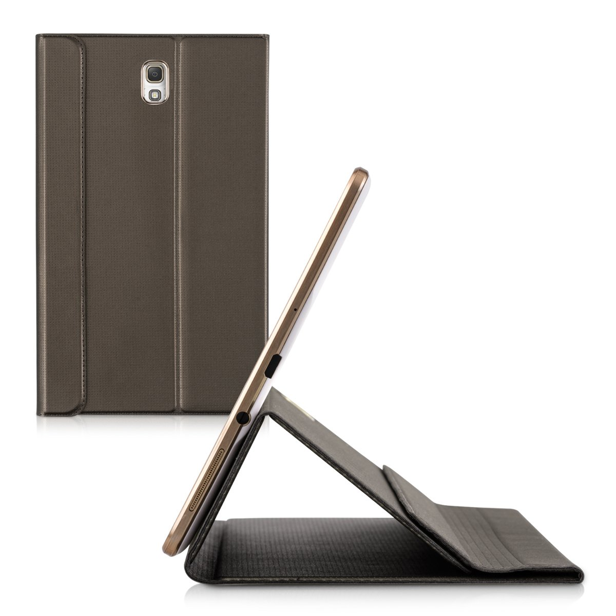 T705 in Copper kwmobile Elegant Synthetic Leather case bookstyle for Samsung Galaxy Tab S 8.4 T700