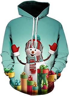 Ciyoon 2018 New Christmas Men's Hoodie Sweatshirt, Fashion Man & Women 3D Printing Hoodies Long Sleeve Printing Hooded Sweatshirt Casual Loose Hoody