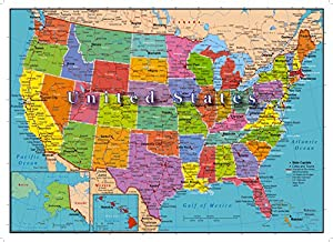 Amazoncom United States Of America Map Piece Jigsaw Puzzle - Map of us rivers and states