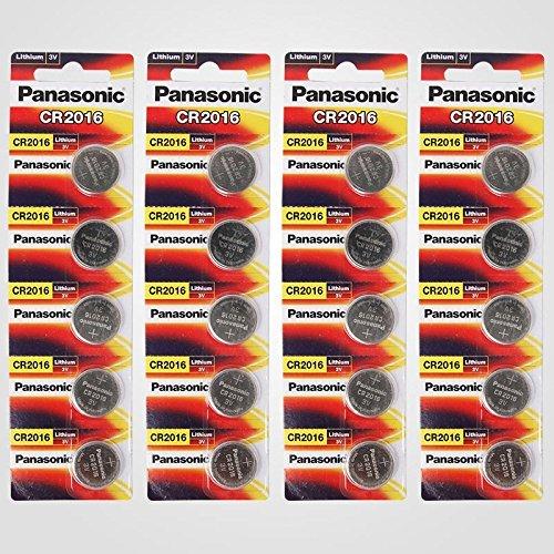 Panasonic Cr2016 3v Lithium Battery 4pack X (5pcs) 20 Sin...