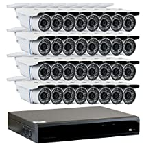 GW Security 32-Channel HD-TVI 1080P Security System with (32) x True HD 1080P Outdoor / Indoor Bullet Security Cameras and 6TB Hard Drive, QR Code Scan Free Remote View