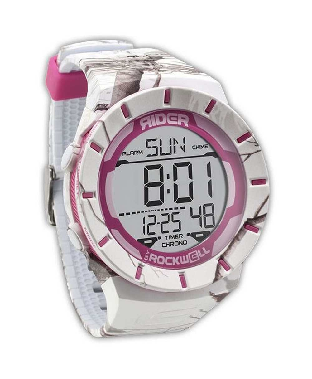 Rockwell Time Coliseum Realtree APS Camo Watch, White/Pink