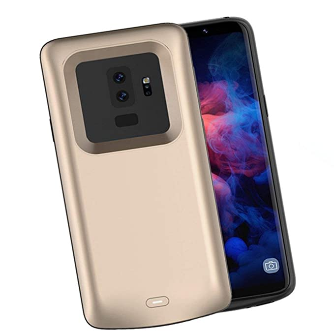 new styles 681a8 75fcc Samsung Galaxy S9 Plus Battery Case 5200mAh, NOVPEAK Slim Extended Battery  Pack Power Bank Portable Charger Cases for Galaxy S9 Plus (Gold)