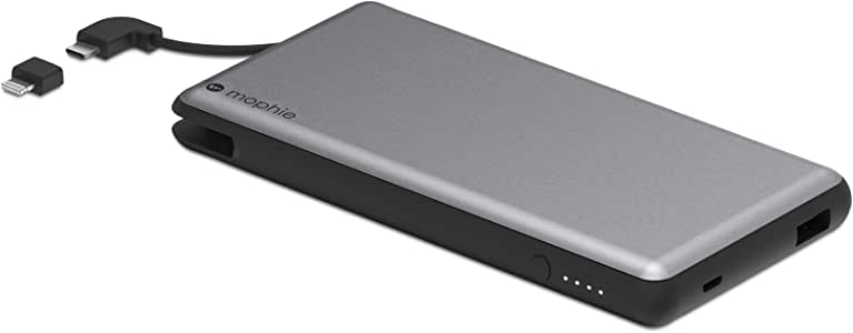 Mophie powerstation Plus XL - External Battery with Built in cables for Smartphones - Space Gray