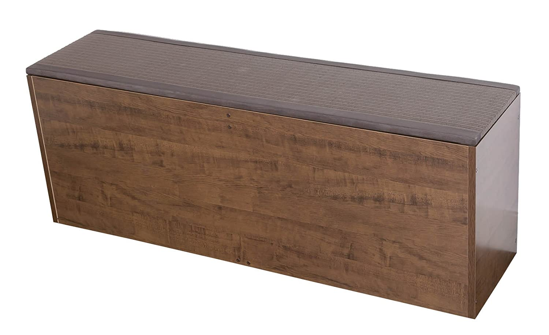 PP樹脂畳ユニット ベンチタイプ W120×D30×H45cm ブラウン PP-bnc-120BR B014KR1QFG 幅120cmタイプ|ブラウン ブラウン 幅120cmタイプ