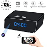 Mini Spy Hidden Camera Clock, UYIKOO 1080P Small WiFi HD Nanny Cam with Night Vision