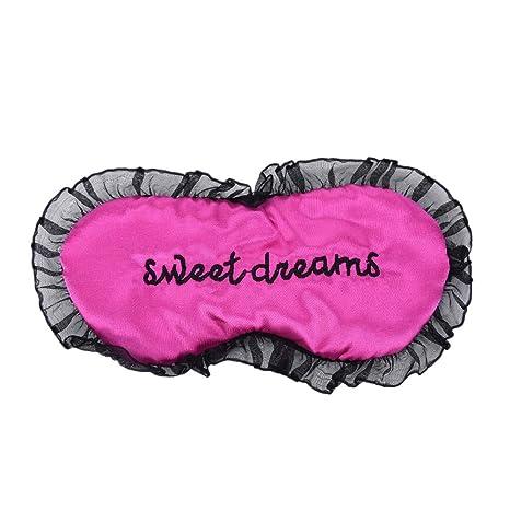 Daxey - Duplex Seda Dormir la máscara de Ojo Sombra de Ojos Máscara del sueño Negro