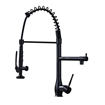 Senlesen Commerical Pull Down Kitchen Faucet Single Handle One Hole