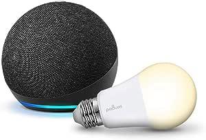 Echo Dot (4th Generation) with Sengled Bulb (Charcoal)
