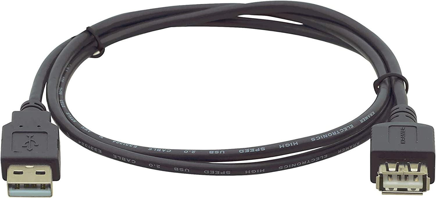 M F Kramer Electronics C-USB//AAE-6 USB 2.0 A Extension Cable to A 6ft