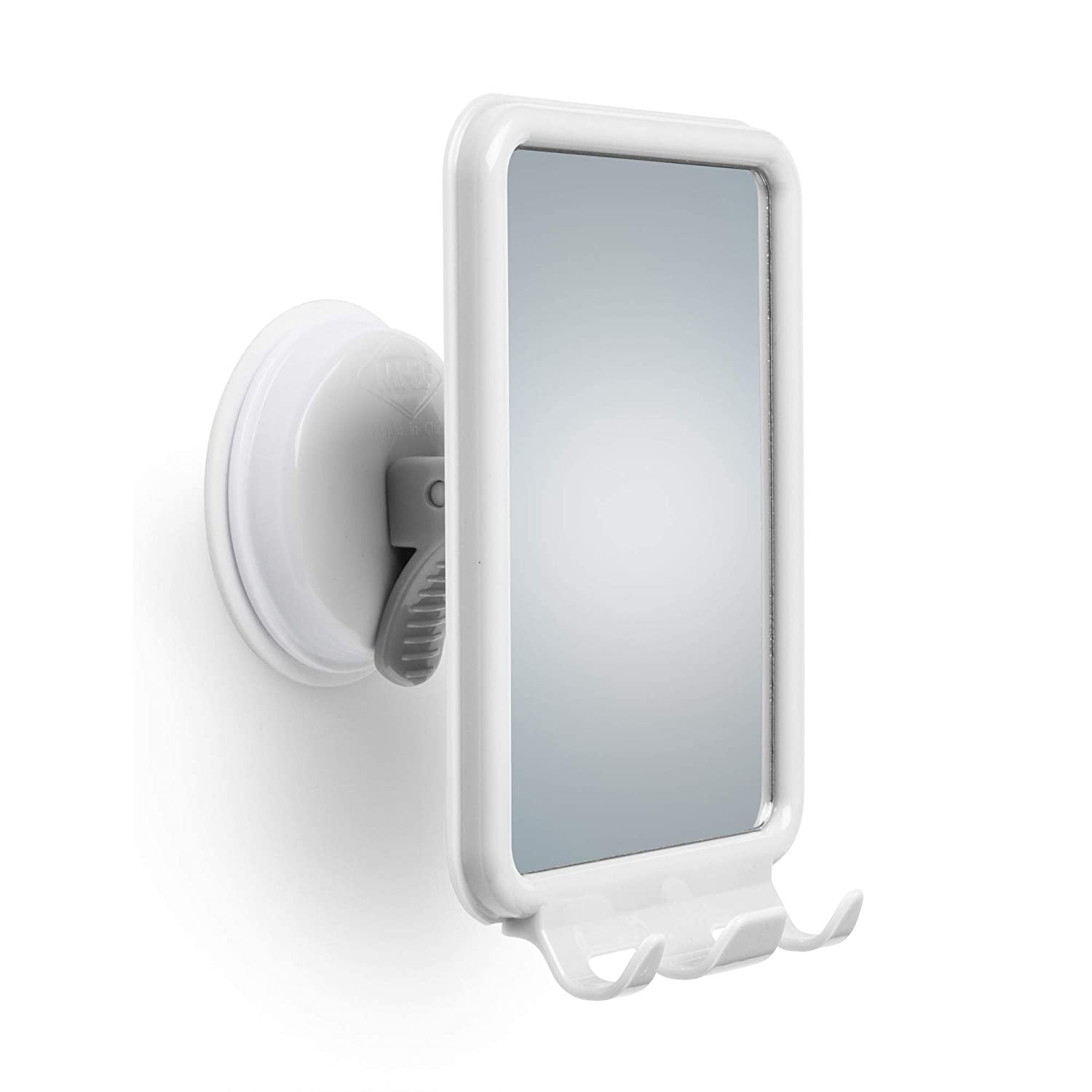 Changing Lifestyles Safe-er-Grip Shower Mirror with 2 Razor Hooks Mommys Helper 10161