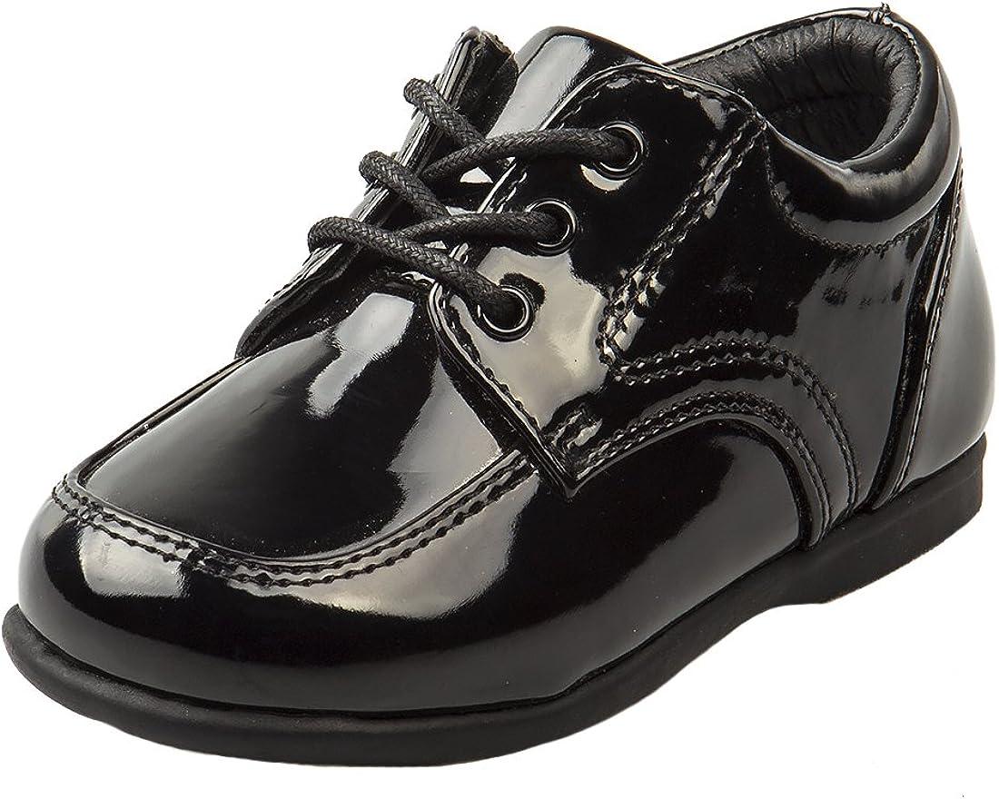 5 M US Toddler Black Patent Josmo Baby Boys First Steps Walking Dress Shoe
