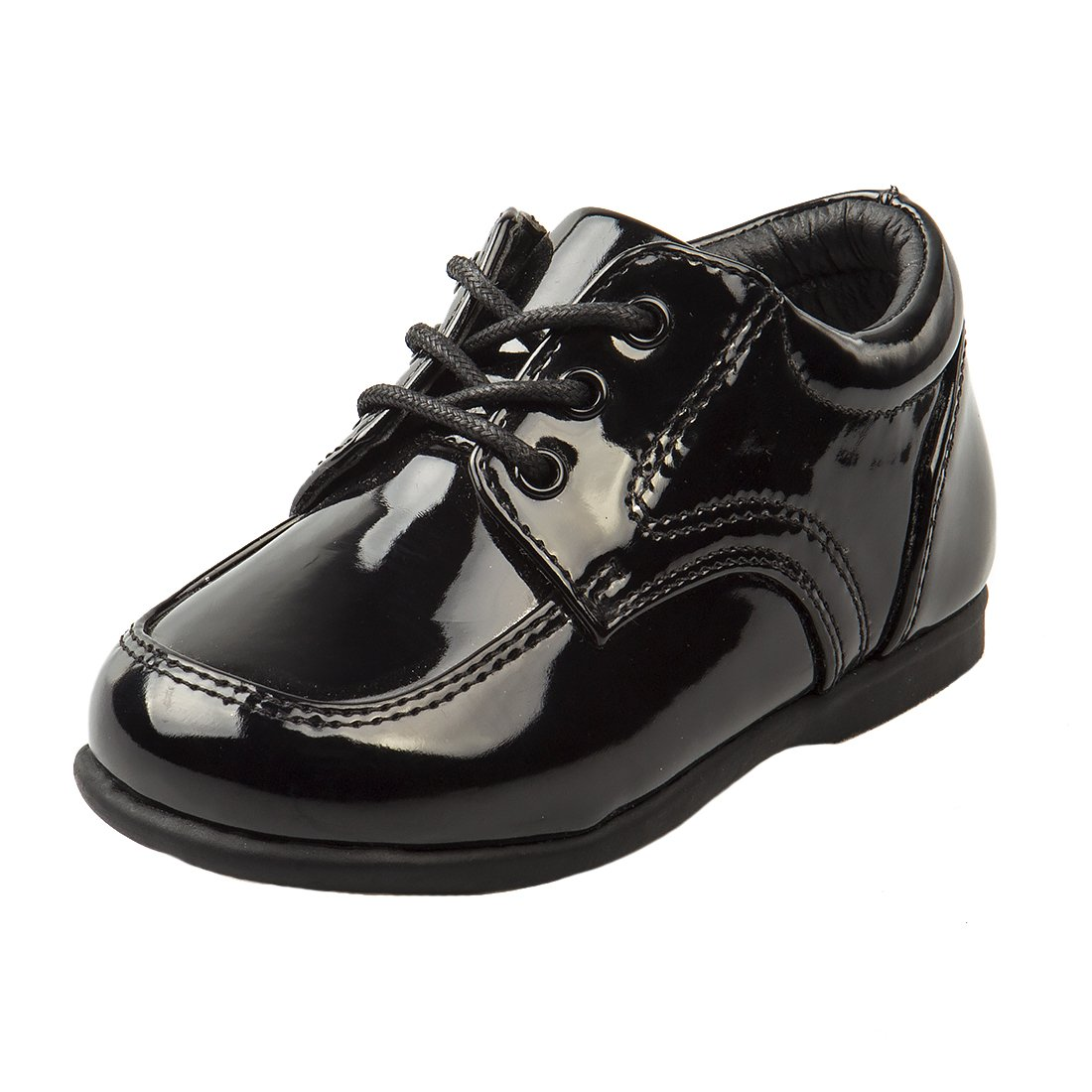 Josmo Baby Boy's First Steps Walking Dress Shoe, Black Patent, 5 M US Toddler by Josmo