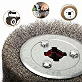 125x110mm 0.3mm Stainless Steel Wire Drawing Polishing Burnishing Wheel Grinding Abrasive Tool for The Surface Treatment of Stainless Steel, Aluminum, Copper and other Metal Products