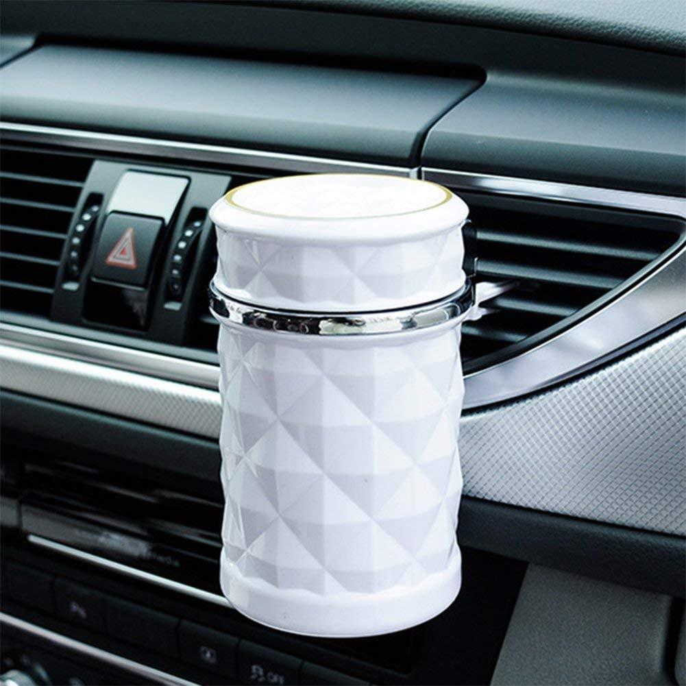 Ecent Posacenere Auto con luce a led blu per portabicchieri sfiato aria auto
