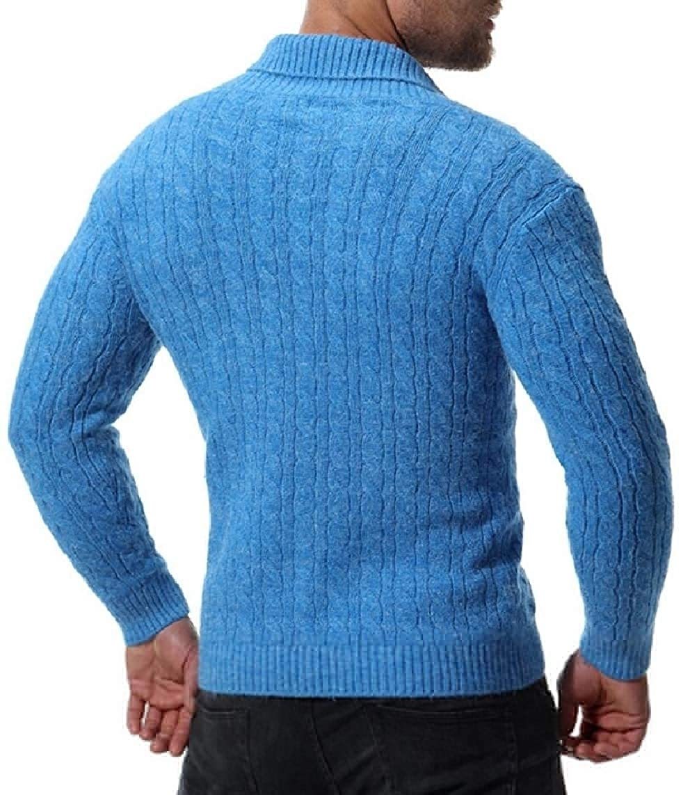 Yayu Mens Knitting Autumn Leisure Double Breasted Slim Cardigan Sweaters