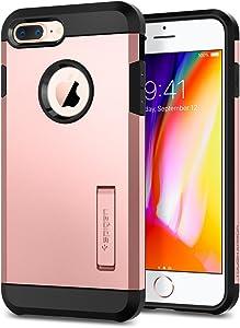 Spigen Tough Armor [2nd Generation] Designed for iPhone 8 Plus Case (2017) / Designed for iPhone 7 Plus Case (2016) - Rose Gold