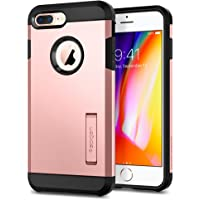 Spigen [Tough Armor 2] iPhone 8 Plus Case/iPhone 7 Plus Case with Kickstand Air Cushion Technology for Apple iPhone 8 Plus (2017) / iPhone 7 Plus (2016) - Rose Gold