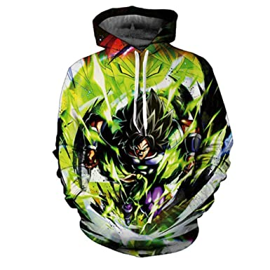 Anime Dragon Ball Z Hooded Goku 3D Print Fashion Hoodie Sweater Pullover Top New