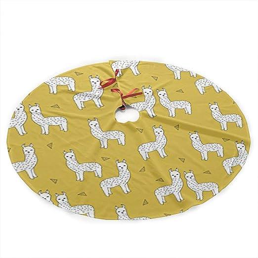 Xmastgdw82 Llama - Falda para árbol de Navidad, diseño de Mostaza ...