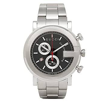 f910b120bad9 [グッチ] 時計 メンズ 腕時計 GUCCI YA101309 Gラウンド クロノグラフ ステンレス ブラック/シルバー