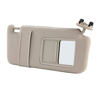 Orion Motor Tech Sun Visor Right, Fit for Year 2007 2008 2009 2010 2011 Toyota Camry Passenger Sun Visor Beige Without Sunroof, 74310-06750-E0: Automotive