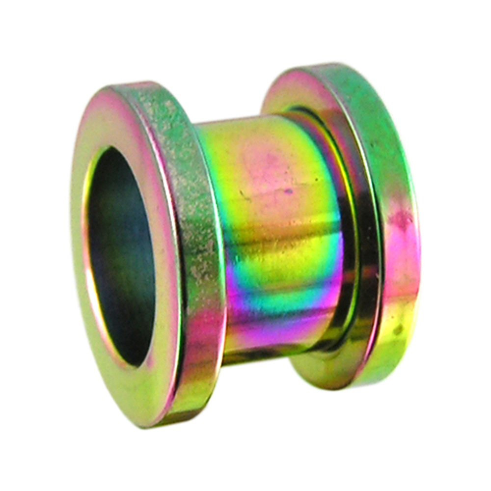 24MM Rainbow Anodized Surgical Steel Fit Ear Flesh Tunnel Body jewelry