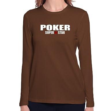 Teeburon SUPER STAR Poker Camiseta manga larga mujer: Amazon.es: Ropa y accesorios