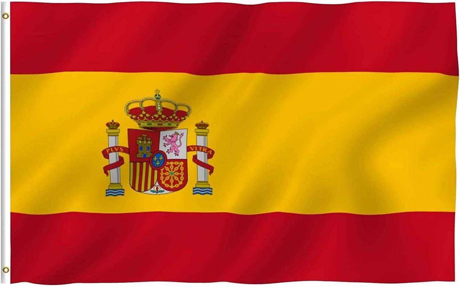 PK KINPARTY ® Bandera España Grande 90 x 150 cm, Ideal para Jardines y Celebraciones, Interiores y Exteriores: Amazon.es: Jardín