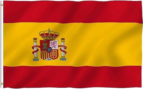 Bandera de España (150 x 90 cm), Ideal para Exteriores y Banderas en el jardín: Amazon.es: Jardín