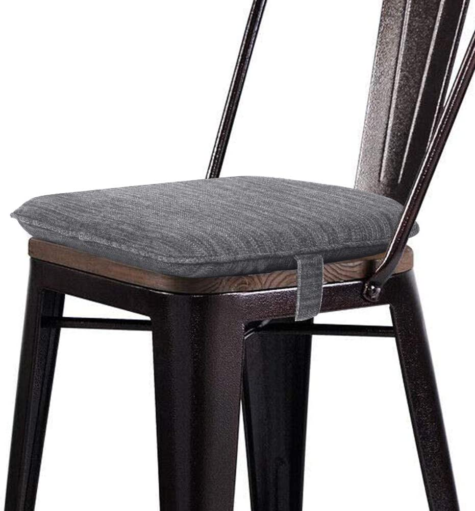 baibu Super Soft Metal Dining Chair Pads Bar Stool Cushion with Ties for  Metal Chairs or Bar Stools - Cushion Only (Gray, 5x5x5.5in)