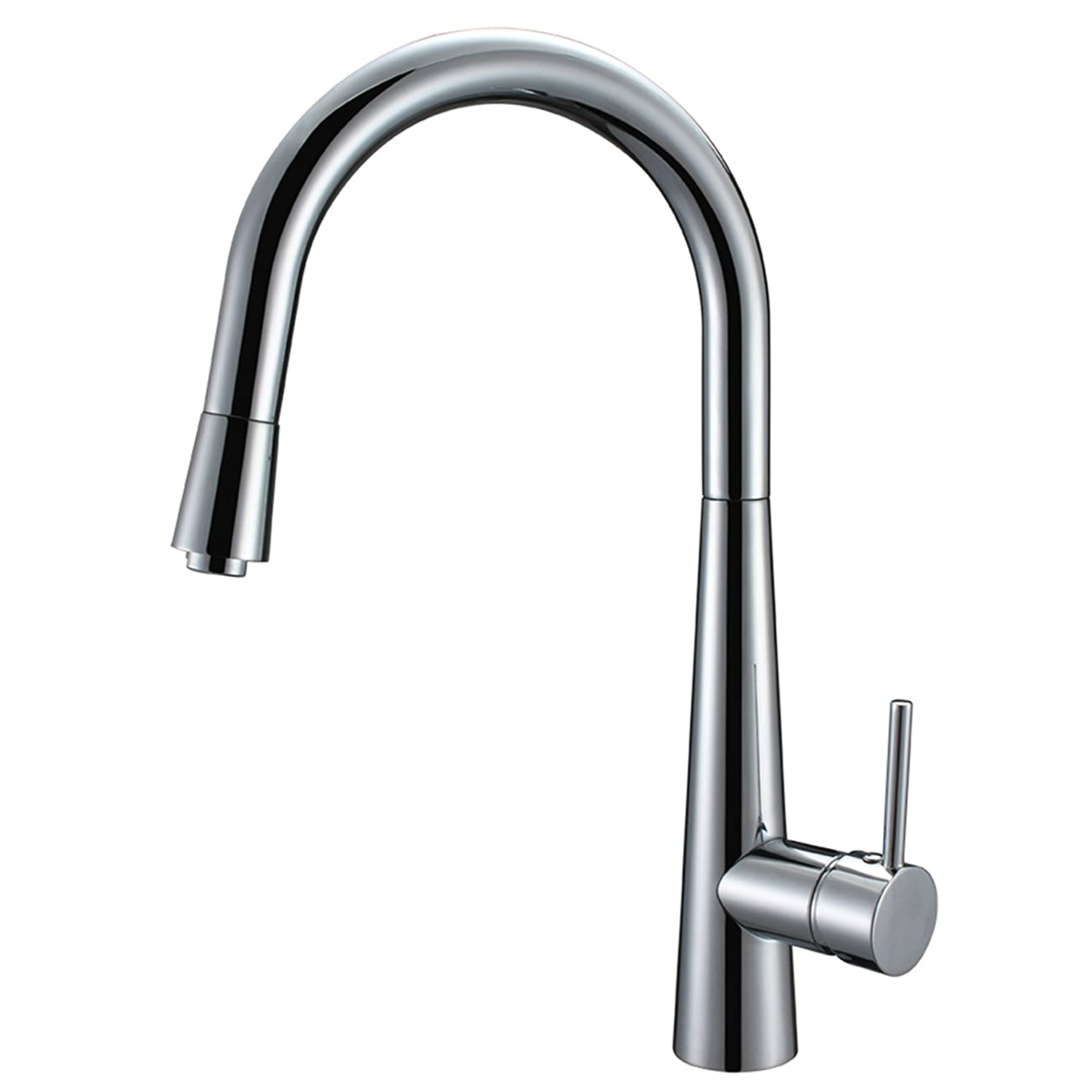 oil rubbed out with hole bronze down rachel faucet pull front kitchen single faucets spout spring