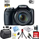 : Canon Powershot SX530 HS 16MP Wi-Fi Super-Zoom Digital Camera 50x Optical Zoom Ultimate Bundle Includes Deluxe Camera Bag, 16GB High Speed Memory Card, Extra Battery, Tripod, Card Reader & More